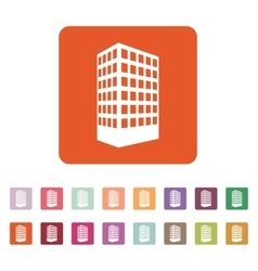 The building icon apartment and skyscraper vector