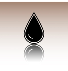 Drop of water icon isolated vector