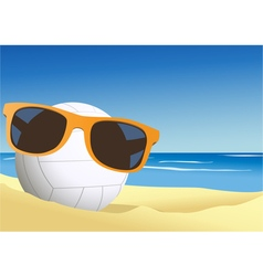 Volleyball on the beach sand vector