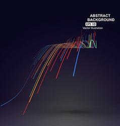 Colourful curve composition have a sense of vector