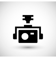 Action camera icon vector