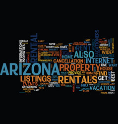 Arizona the host of great events text background vector