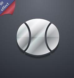 baseball icon symbol 3D style Trendy modern design vector image