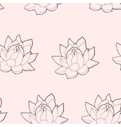 Blooming lotus seamless vector image vector image