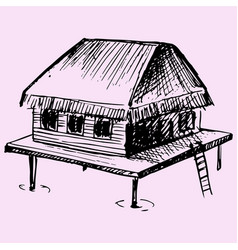 bungalow vector image