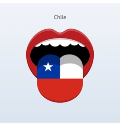 Chile language Human tongue vector image vector image