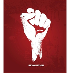 Clenched fist hand Revolution concept vector image