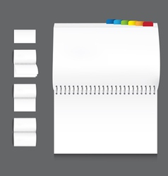 collection of book blank white paper on white back vector image vector image