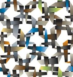 Colorful decorative intertwined origami wallpaper vector