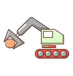 crane icon cartoon style vector image vector image