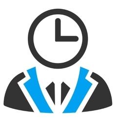 Duty person icon vector