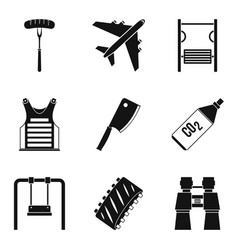 Family leisure icons set simple style vector