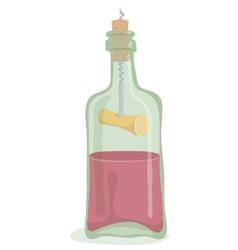 Half Bottle of Wine vector image vector image