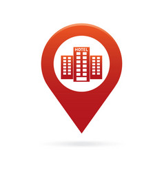 Hotel map pointer icon marker gps location flag vector