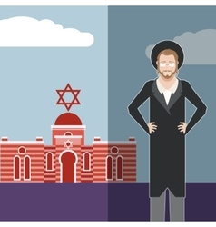 Jew and jewdaism banner vector
