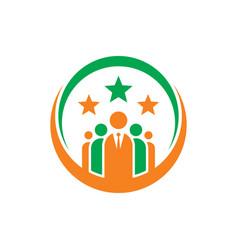 Leadership logo image vector