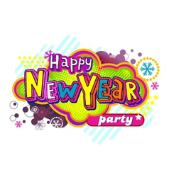 New year party banner vector