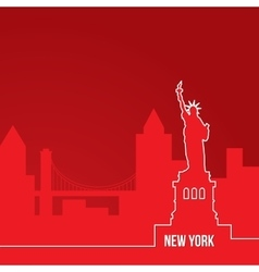 New york usa concept for web banner one line vector