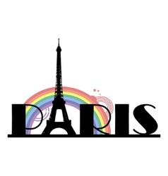 paris typography vector image vector image
