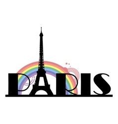 Paris typography vector