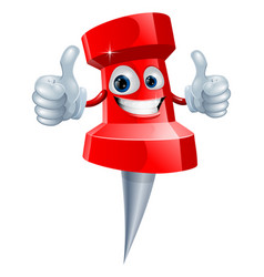 Push pin man vector