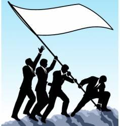 Raising the flag vector