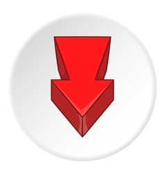 Red arrow icon cartoon style vector image vector image