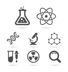 Science trendy icons pack elements vector image vector image