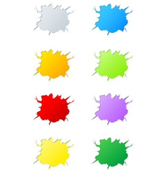 set of cracks vector image vector image