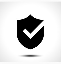 shield check mark logo icon vector image