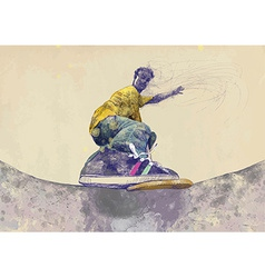 Skateboarder vector
