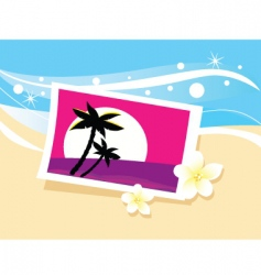 vacation photo in sand illustration vector image vector image