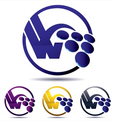 vine grape icon vector image vector image