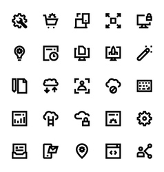 Web Design and Development Icons 1 vector image vector image
