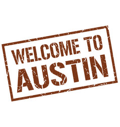 Welcome to austin stamp vector