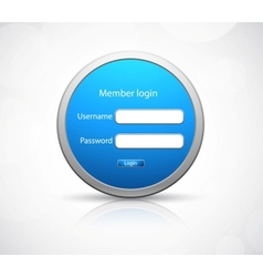 Login icon on gray background vector image
