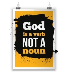God is a verb not noun simple design vector