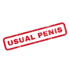 Usual penis rubber stamp vector