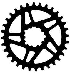 bicycle chainring vector image