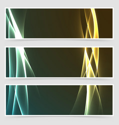 Electric hi-tech abstract modern banner set vector