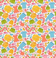 Clothes pattern in color vector