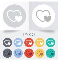 Hearts sign icon love symbol vector