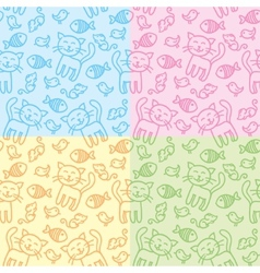 Cat patterns vector