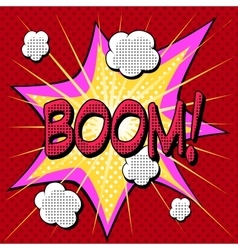 Boom comic book style explosion vector