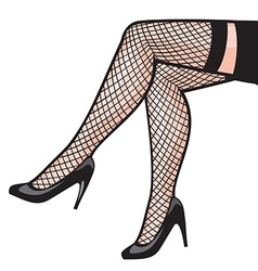 Womans leg in stockings vector
