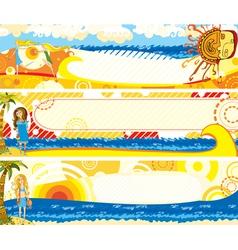 summer banners set girl vector image