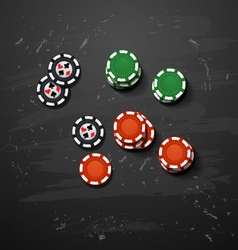Poker gambling chips casino elements vector