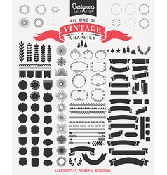 Premium design elements for retro vintage logos vector