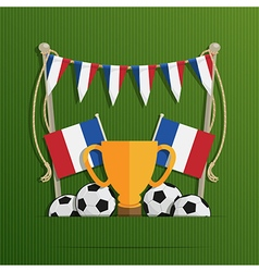 france football decoration vector image