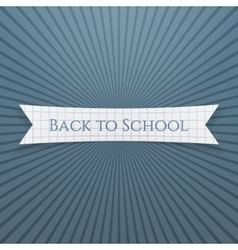 Back to school text on realistic tag vector